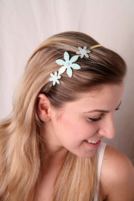 hair band styles for hair items similar to light blue headband flower headband 1825