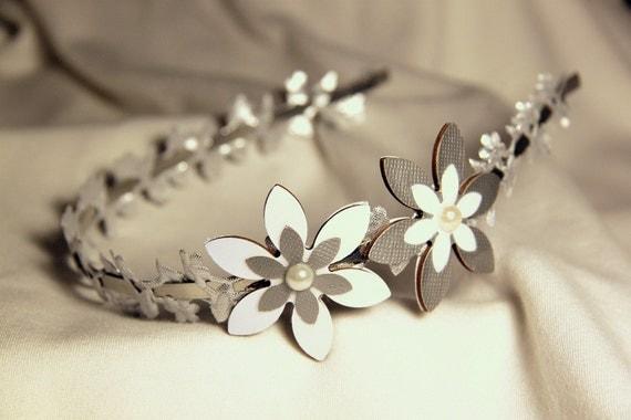 Silver headband, Wedding hair bands, Wedding hair accessory, Wedding headband, Bridal headband, Bride hair accessory,Wedding accessory bride