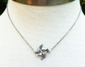 Silver Pinwheel Necklace, Playful and Elegant, cute gift