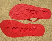 CUSTOM Flip Flop Footprints Personalized Sand Imprinting Sandals Design Yours Today