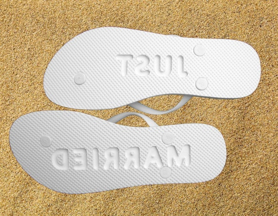 CUSTOM WEDDING Flip Flop Footprints Personalized Sand Imprinting Sandals Design Yours Today