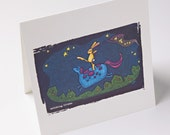 embossed greeting card - catching dreams