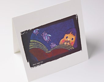 embossed greeting card - when pigs fly