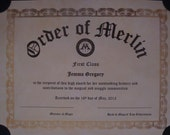 Customizable Harry Potter Paper Props - Order of Merlin - Gilderoy Lockhart Signed Picture and Letter - Proclamation