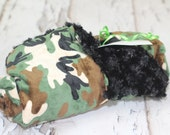 Camo Black Minky Baby Infant Toddler Blanket
