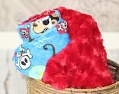 Monkey Pirate Infant Baby Toddler Minky Blanket