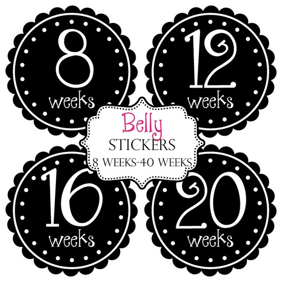 Baby Belly Bump Photo Prop Stickers - Makes a Nice Gift For New Mom To Be- Pregnancy Maternity Preppy