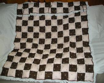 handmade patchwork crib quilt