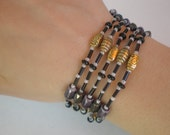 Purple, Black and Gold Magnetic Hematite Wrap