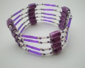 Purple and Silver Magnetic Hematite Wrap