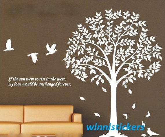 wall decals tree design wall decal nature design tree wall decals wall stickers nursery wall - Design Wall Decal