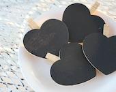 Heart shaped chalkboards set of 4