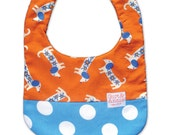 Baby Bib Boy or Girl Doggy Spot