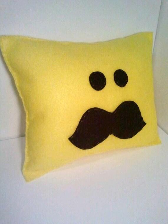 Mr. Mustache Pillow