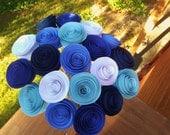 Blue Handmade Rolled Paper Flower Bouquet