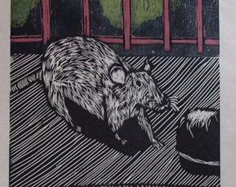 Hand-Pulled Woodcut Ratopolis no. 1
