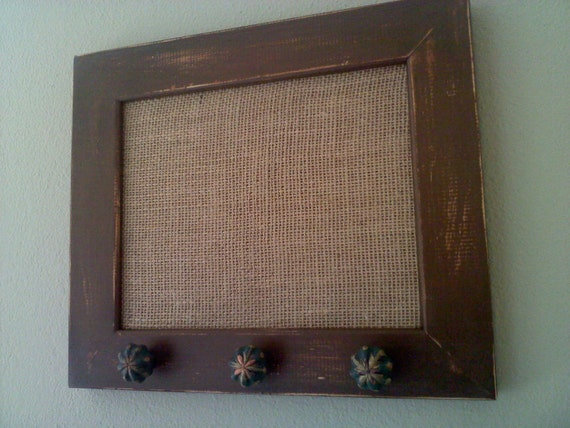DEB - RESERVED LISTING - Distressed Brown Framed Cork Board