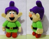 Seven Dwarf - Dopey Crochet Amigurumi- Finish Doll
