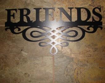Sign-Friends w/Scroll Pattern