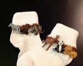 Toddler Size 2-3 White Sock
