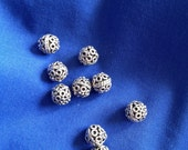 Moroccan sterling silver beads 8x7mm