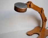 Lamp Desk wood led low voltage ARCHIMEDE  Italian design  adjustable Led wireless visible