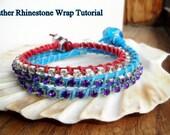 PIF Video Tutorial Leather Rhinestone Wrap Bracelet