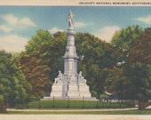 GETTYSBURG, PA. Soldier's National Monument, Unused Linen Postcard. Marken & Bielfeld, Inc., Frederick, Md.