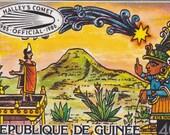 SALE HALLEY'S Comet, MOCTEZUMA Republique De Guinee, Guinea, Official Stamp 1985-1986, Africa