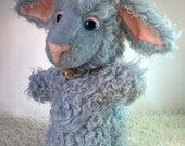 Motsy - Lamb Glove Puppet With Pink Collar & Bell.