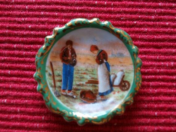 Miniature Limoge Plate
