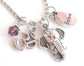 Sacred Elephant Necklace Yoga Jewelry Believe Om Zen Namaste Earthy Unique Gift Under 50 Item T3