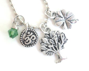 Tree of Life Necklace Good Luck Yoga Jewelry Om Zen Namaste Earthy Unique Gift Under 30 Item T6