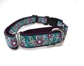 Purple Martingale Collar Medium with Flower Trim