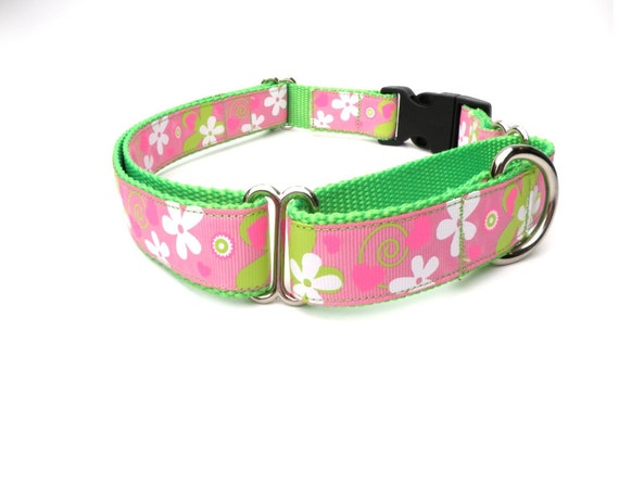 Pink Martingale Collar Large Adjustable