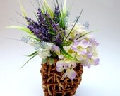 Lavender and Hydrangea  Arranged Artificial Flowers