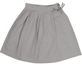 Grey cotton Skirt Aglaé