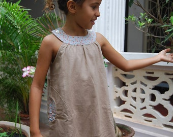 Linen sleeveless dress Adélaïde