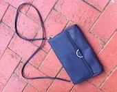 1980's Original Vintage Navy Blue Handbag