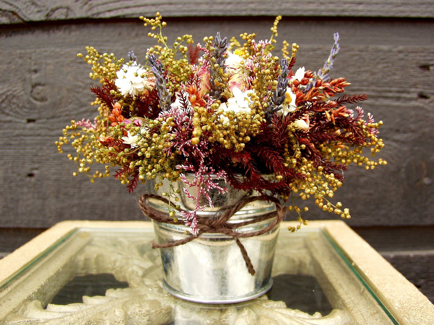 Wedding centerpiece table arrangement primitive