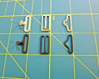 7/8'  Bow tie hardware - mixed set of 20