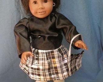 "Taffata Party Dress for 18"" American Girl Dolls"