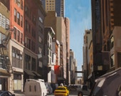 "24th Street, New York City: 11x11"" - Archival Print Signed"