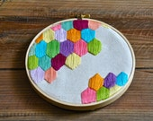 Embroidered hexagonal pattern