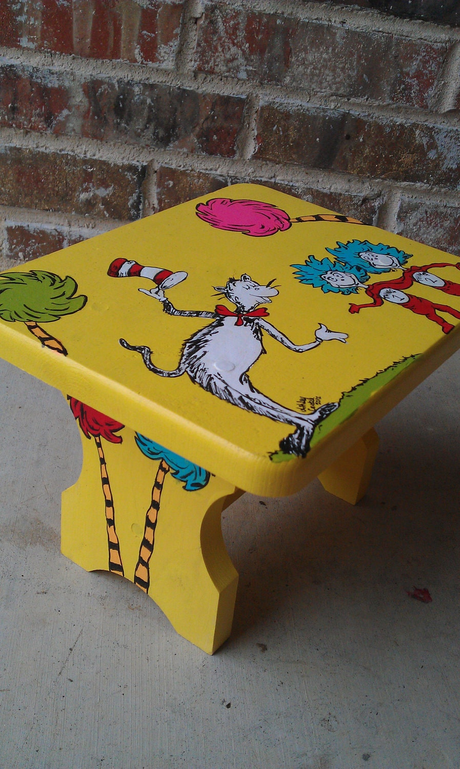 Items Similar To Handpainted Wooden Dr Seuss Step Stool