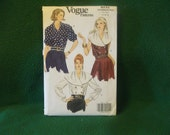 Vogue Ladies blouse  womens dressy blouse pattern shawl blouse pattern double breasted