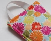 "The Latch Pillow Door Jamb in ""Bright Daisy""  fabric- Free US Shipping"