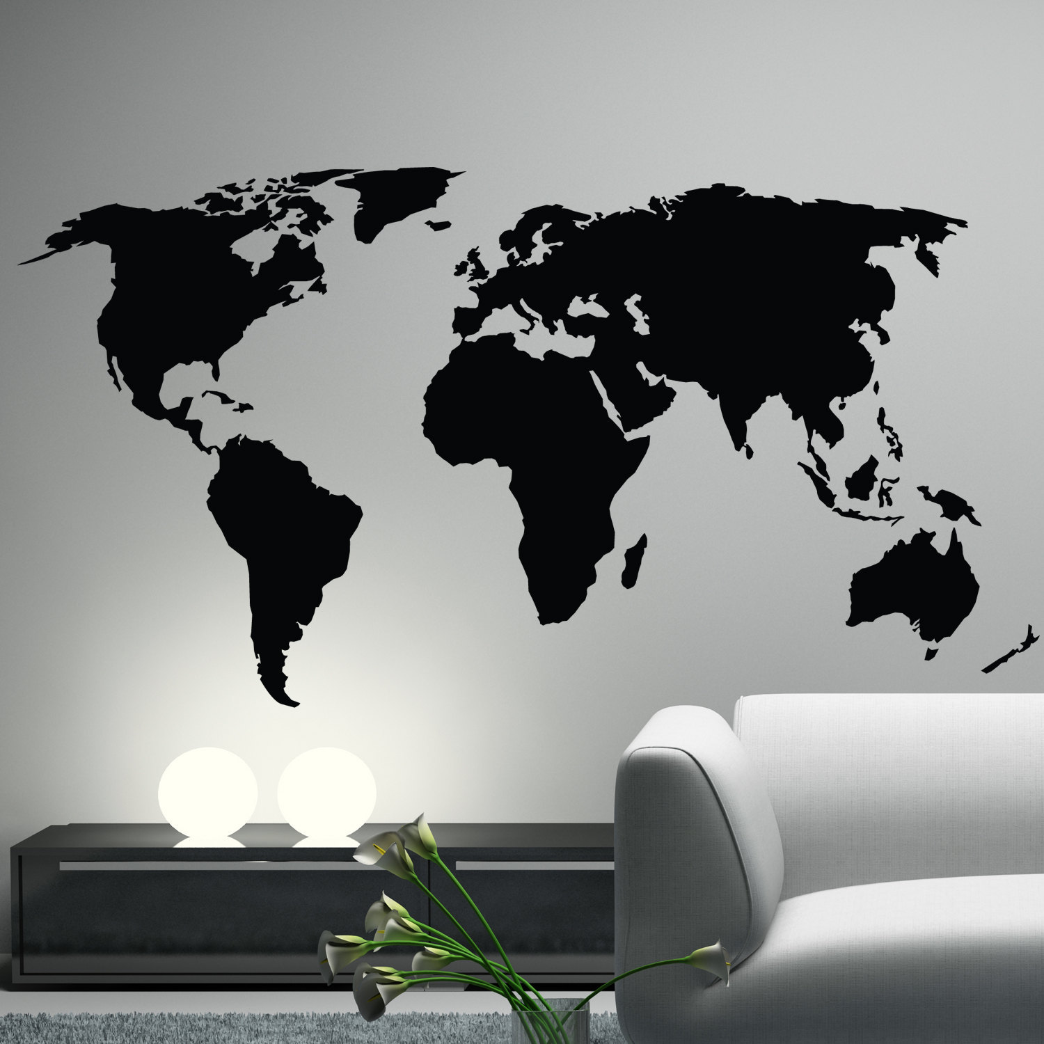 World Map Wall Decal Sticker World Country Atlas The By