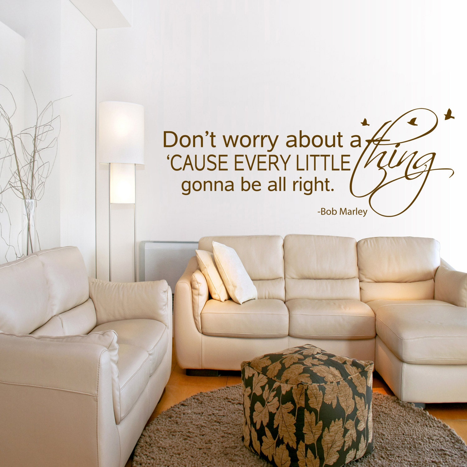 Items Similar To Bob Marley Art Wall Decal Quote Every