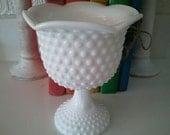White Ceramic Hobnail-like Vase